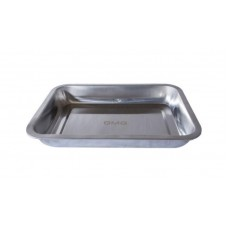 "Grill Pan - Stainless (430) Large 14"" x 10"" x 1.6"""