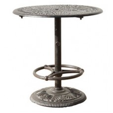 "36"" Round Pedestal Bar Table with Footrest"